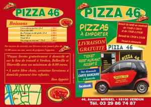 pizza 46 a Verdun sur Meuse